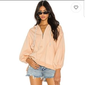 Free People High Road Pullover in Peach M